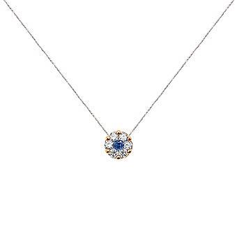 Ketting Duchess Full Diamond op Sapphire en 18K Gold, On Thread - Rose Gold, White