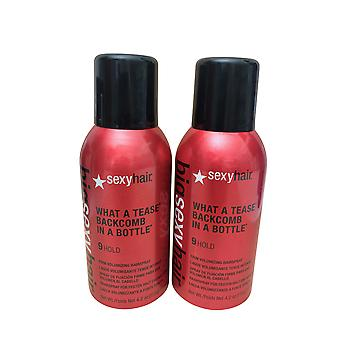 Sexy Hair Big Sexy Hair What A Tease Backcomb in a Bottle 9 Hold Set of 2 4.2 OZ