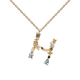 Pdpaola Women's Letter H Plated Necklace