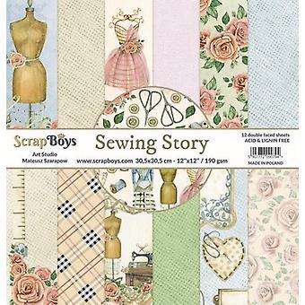 ScrapBoys Sewing Love paperset 12 vl+cut out elements-DZ SELO-01 190gr 30,5cmx30,5cm
