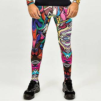 Does - Men's sports leggings with graffiti design