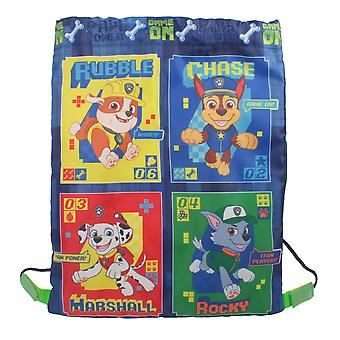 Paw Patrol Game On Drawstring Sports Trainer Bag