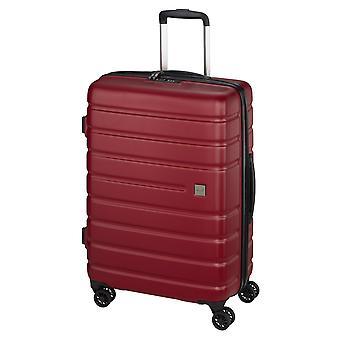 d&n Línea de viaje 2200 Trolley M, 4 ruedas, 65 cm, 63 L, rojo