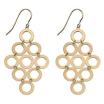 Elemente Gold Multi Circle Tropfen Ohrringe - Gold