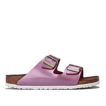 Frauen's Birkenstock Arizona weiche Fußbett Sandalen schmale Breite in rosa