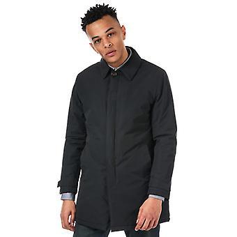 Men's Original Penguin Padded Mac Jacket in Black