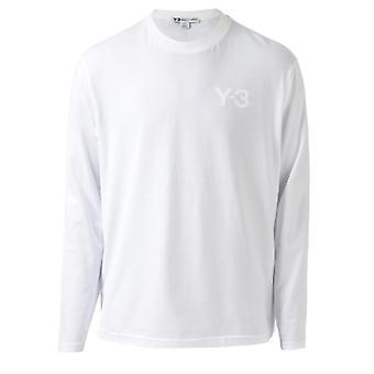 Men's Y-3 Classic Logo Langarm T-Shirt in weiß
