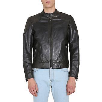 Belstaff 71020820l81n034790000 Men's Black Leather Outerwear Jacket