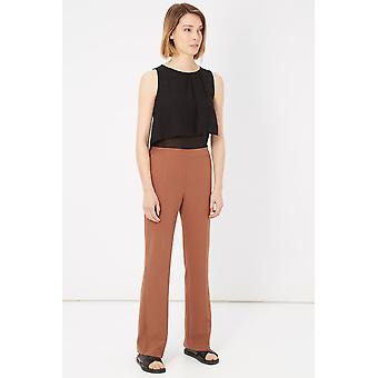 Please Black Camel Bicolour Jumpsuit
