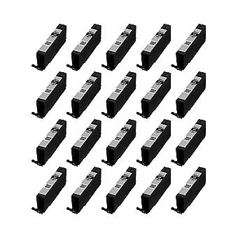 RudyTwos 20x Replacement for Canon CLI-581BKXXL Ink Unit Black (Extra High Yield) Compatible with Pixma iP4850, iP4950, iX6550, MG5150, MG5250, MG5300, MG5320, MG6150, MG6250, MG6220, MG8170, MG8150,