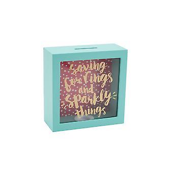 Articles cadeaux CGB Oh si jolie épargner pour anneaux et brillant choses tirelire en bois
