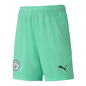 2020-2021 Man City Home Goalkeeper Shorts (Green) - Kids