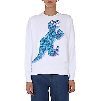 Ps Door Paul Smith W2r142vep211801 Women's White Cotton Sweatshirt