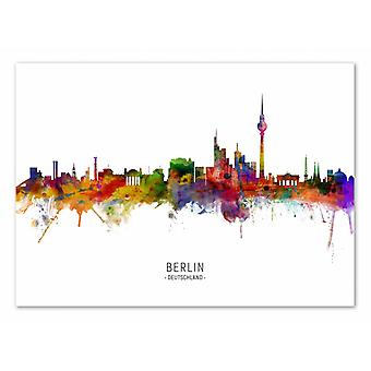 Art-Poster - Berlin Tyskland Skyline (Färgad version) - Michael Tompsett 50 x 70 cm
