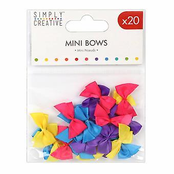 Simply Creative Mini Bows Brights (20pcs) (SCRBN001)