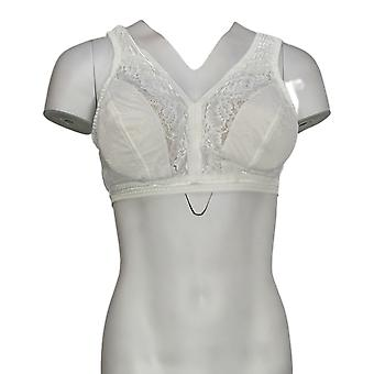 Breezies Smoothing Control Lace Wirefree Bra White A378434