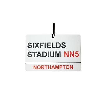 Northampton Sixfields Stadium Street segno auto deodorante /