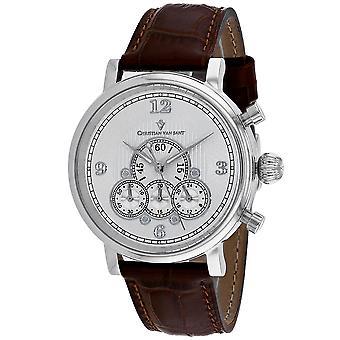 850, Christian Van Sant Men 'S Cv0710 Quartz Brown Watch