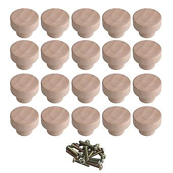 20pcs Lotus Door Knob Cabinet Wardrobe Pull Handles 35*25mm