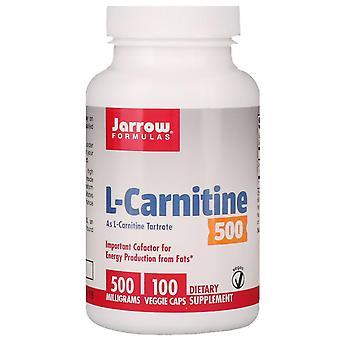Fórmulas De Jarrow, L-carnitina 500, 500 mg, 100 cápsulas vegetarianas