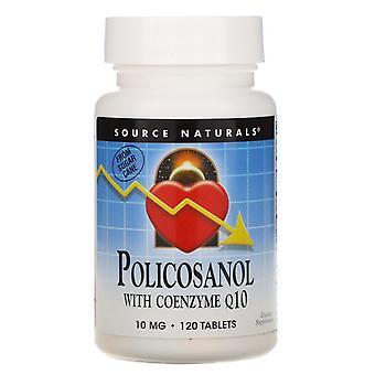 Source Naturals, Policosanol avec Coenzyme Q10, 10 mg, 120 comprimés