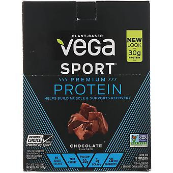 Vega, Protein, Chocolate, 12 Pack, 1.6 oz (44 g) Each