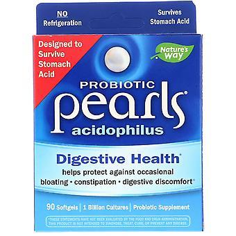 Nature-apos;s Way, Perles probiotiques Acidophilus, 90 Softgels