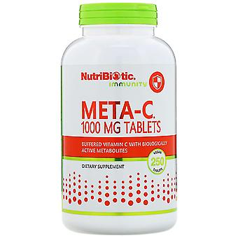 NutriBiotic, Immuniteit, Meta-C, 1.000 mg, 250 Veganistische Tabletten