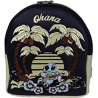 Loungefly Disney Stitch Satin Mini Backpack W/faux Leather