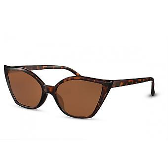 Sunglasses Women's Butterfly Brown/Brown (CWI2254)
