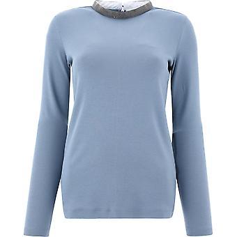 Fabiana Filippi Jed220w134c4435125 Dames's Lichtblauwe katoenen trui