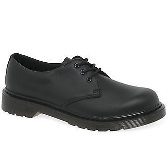 Dr. Martens Everley Senior 3 Eye Boys School Shoes