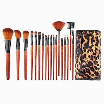 YANGFAN Leopard Print Cosmetic Brushes Set