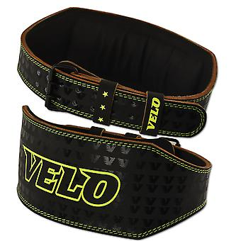 VELO 6 INCH Leather Weight Lifting Belt LP2