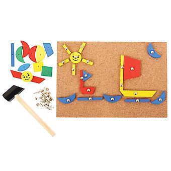 Bigjigs dřevěný pin-a-tvar