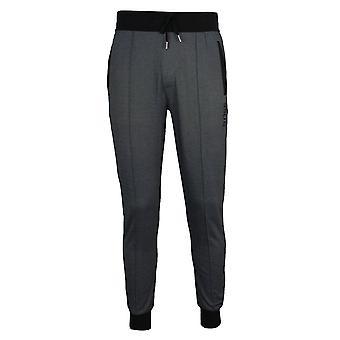 Hugo boss men's black marl tracksuit pants