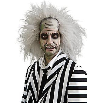Beetlejuice 80s filmen Ghost Halloween män kostym peruk