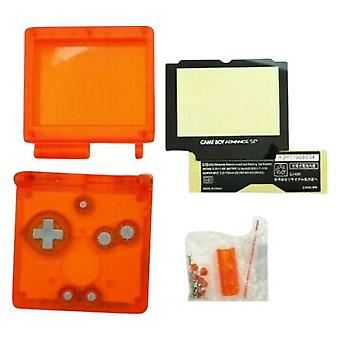 Udskiftning boliger Shell kit til Nintendo Game Boy forhånd SP GBA-Clear orange | zedlabz
