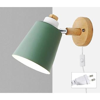 Nordic Wall-lamp With Switch -iron E27 Mounted Bulb
