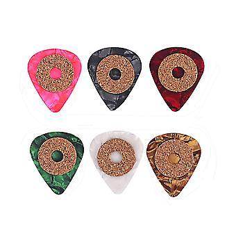 6PCS Standard Guitar Picks Celluloid Guitar Picks avec Cork Rings