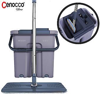 Cenocco CC-9070: Flacher Mop mit Eimer grau