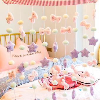 1pcs Ins Cute Bow Star Ball Pelúcia Macia Recheada - Brinquedo de Decoração de Quarto caseiro