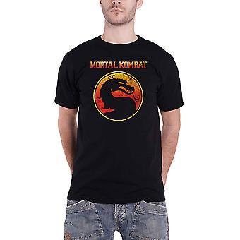 Mortal Kombat T Shirt Dragon Outline Logo new Official Mens Black