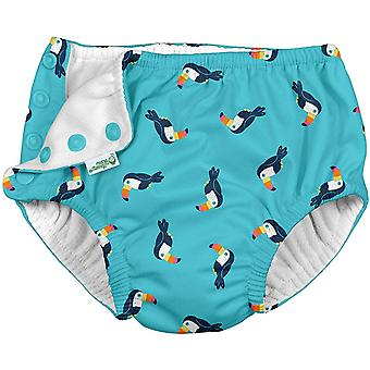 i play. by green sprouts Baby Swim Diaper, Aqua Toucan, 24mo