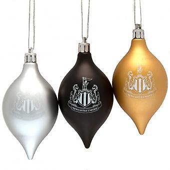 Newcastle United 3pk Vintage Baubles