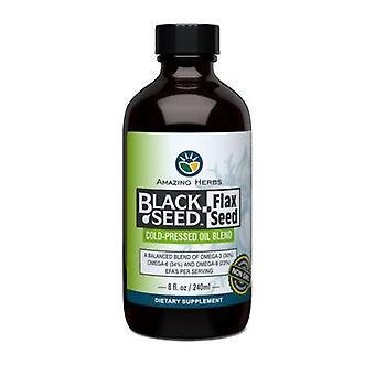亜麻油とアメージングハーブブラックシード、8オンス