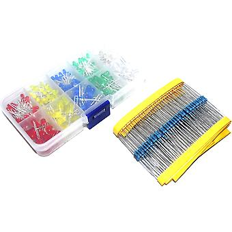 300pcs LED with Matched Resistors