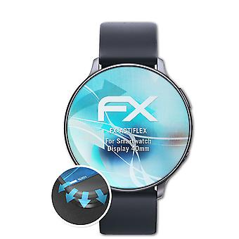 atFoliX 3x beschermfolie compatibel met Smartwatch Display 40mm Screen Protector helder en flexibel