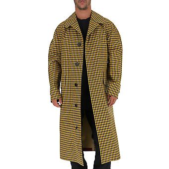 Burberry 8000879 Men's Yellow Cotton Coat