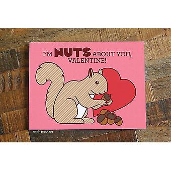 "Cute Valentine Card - ""nuts About You"""